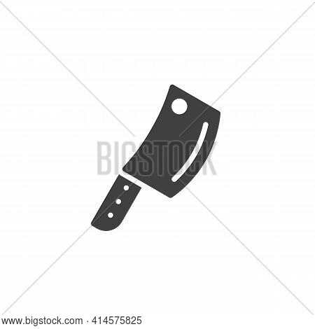 Kitchen Axe Vector Icon. Meat Hatchet Filled Flat Sign For Mobile Concept And Web Design. Butcher Kn