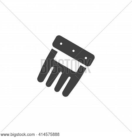 Bbq Meat Claws Vector Icon. Filled Flat Sign For Mobile Concept And Web Design. Shredder Claw Glyph