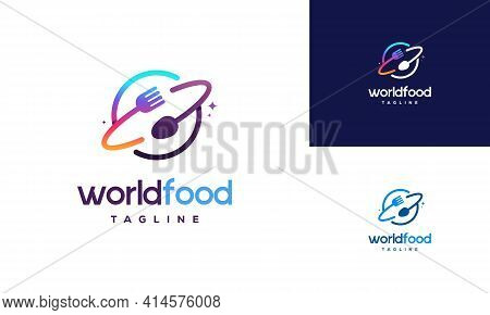 World Food Logo Designs Concept Vector, Restaurant Logo Designs Template, Logo Icon Symbol