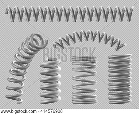 Metal Springs, Realistic Coils For Bed Or Car Set