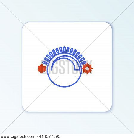 Line Thermostat Icon Isolated On White Background. Temperature Control. Colorful Outline Concept. Ve