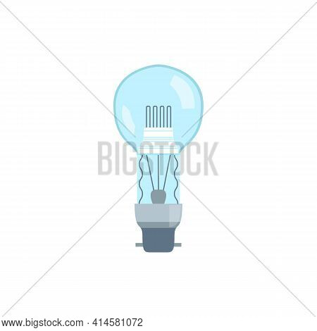 Incandescent Energy Saving Light Bulb Flat Vector Illustration Isolated.