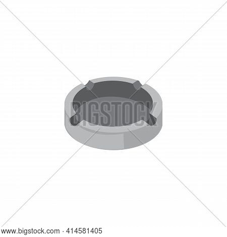 Empty Ashtray, Accessory Of Smokers Cigarettes, Container For Ash