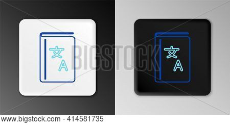 Line Translator Book Icon Isolated On Grey Background. Foreign Language Conversation Icons In Chat S
