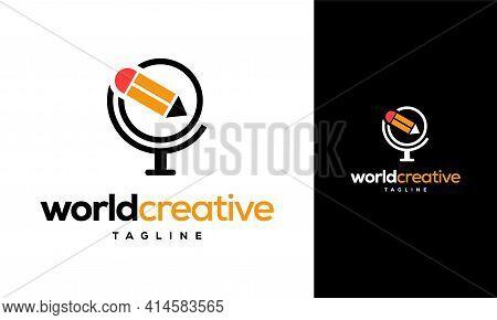 World Creative Logo Designs Concept Vector, Education Logo Designs Template