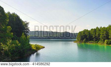 The Sichar Reservoir In Ribesalbes, Castellon