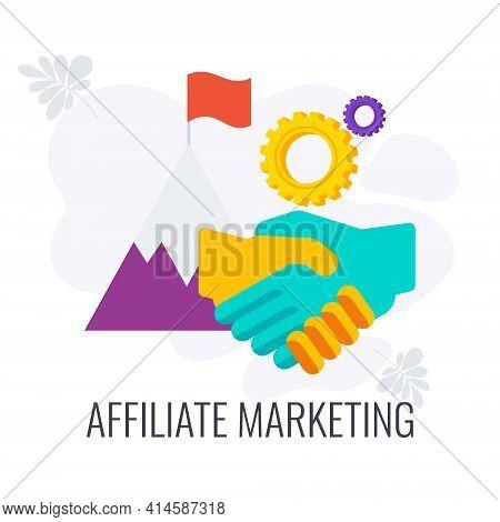 Affiliate Marketing Icon. Referral Marketing. Internet Marketing