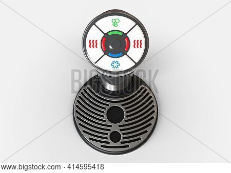 A Chrome Desktop Mountable Water Dispenser With Hot And Cold Function On An Isolated Background - 3d