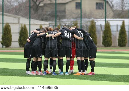 Odessa, Ukraine - March 19, 2021: Local Amateur Football Teams Of The Second League Play In Champion