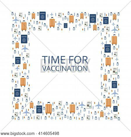 Background On The Theme Of Vaccination. New Travels After The Pandemic, Passport, Antibodies. Travel