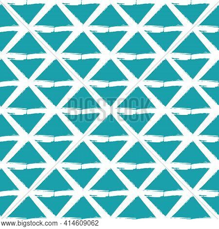 Vector Painterly Lattice Braid Weave Seamless Interlace Pattern Background.macrame Effect Criss Cros