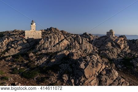 Sunset At The Capotesta Lighthouse In Sardinia