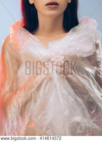 Skin Care. Plastic Surgery. Beauty Enhancement. Lip Augmentation. Cropped Art Portrait Of Brunette W
