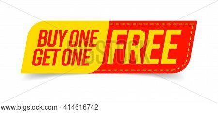 Buy One Get One Free Bogo Template Great Promotion Sale Tag