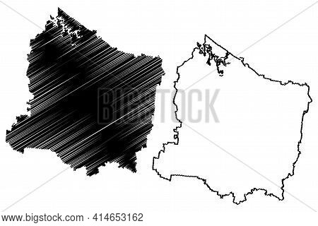 Rutherford County, State Of Tennessee (u.s. County, United States Of America, Usa, U.s., Us) Map Vec