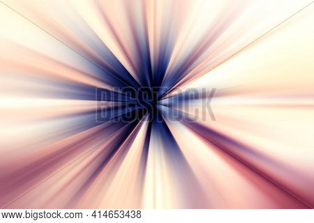 Abstract Surface Of Radial Blur Zoom   In Dark Blue, Lilac And Pink Tones. Bright Colorful Backgroun