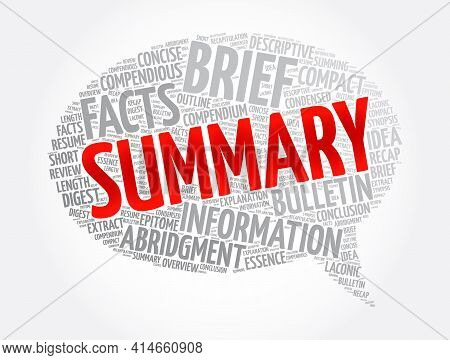 Summary Message Bubble Word Cloud Collage, Concept Background