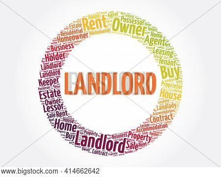 Landlord Word Cloud Collage, Business Concept Background