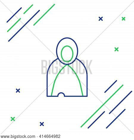 Line Mantle, Cloak, Cape Icon Isolated On White Background. Magic Cloak Of Mage, Wizard And Witch Fo