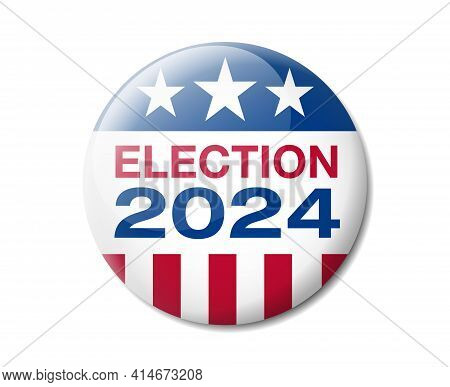 Vector Illustration Of A Badge For The 2024 American Presidential Election