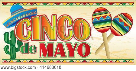 Colorful Cinco De Mayo Background Celebration Image
