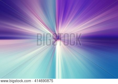 Abstract Surface Of Radial Blur Zoom   In Blue, Lilac And White Tones. Bright Colorful Background Wi