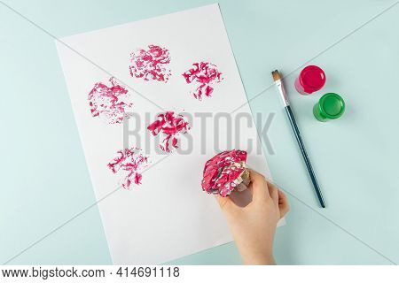 Diy And Kids Creativity. Step By Step Instruction: How To Draw Flowers Painting Techniques With Crum