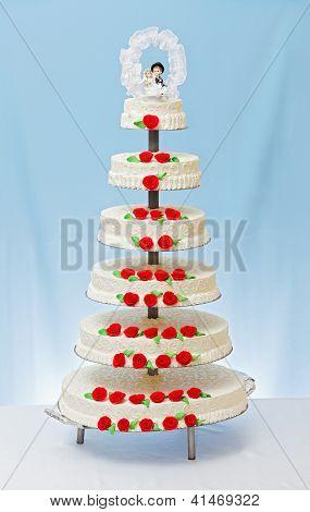 Multi-storey White Wedding Cake