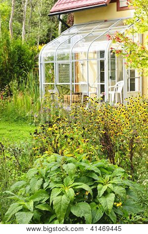 Solarium And Garden At Home