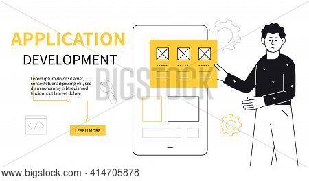 Web Development - Modern Flat Design Style Illustration