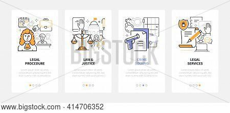 Law And Justice - Modern Line Design Style Web Banners