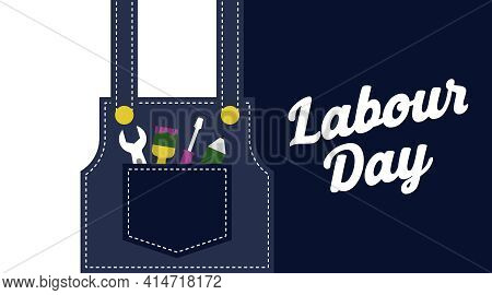 Flat Labour Day Background Illustration.