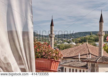 View From The Veranda To The The Khans Palace, Crimean Peninsula, Bakhchisarai