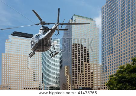 Helicopter Manhattan Financial District
