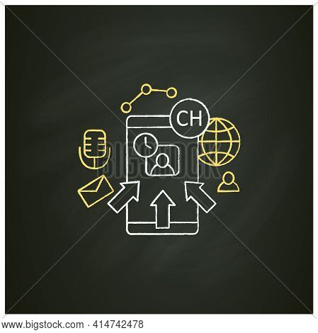 Rapid Popularity Chalk Icon. Rapid Growth User Popularity.arrows Point To Moderator. Communication C
