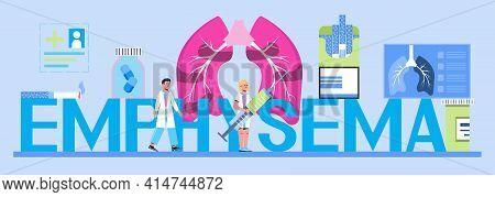 Pleurisy, Emphysema Concept Vector For Header, Website. Pneumonia Treatment. Obstructive Pulmonary D