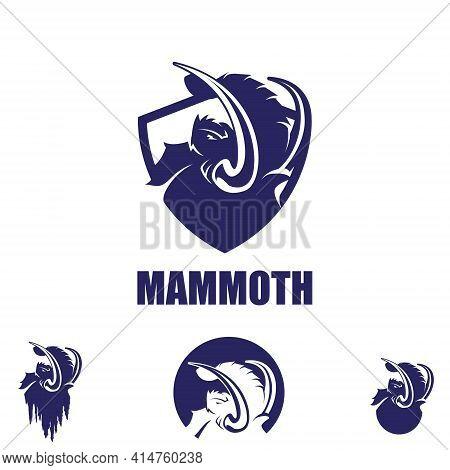 Mammoth Symbol Bundle Set Vector Illustrations Emblem Styles