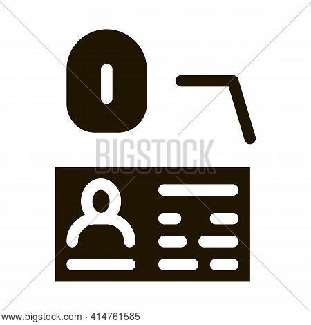Fingerprint Scan Glyph Icon Vector. Fingerprint Scan Sign. Isolated Symbol Illustration