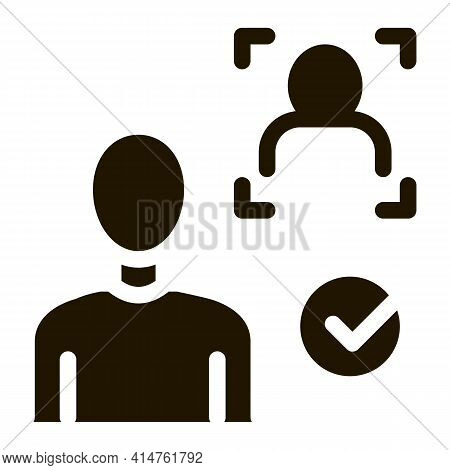 Approve Identity Glyph Icon Vector. Approve Identity Sign. Isolated Symbol Illustration