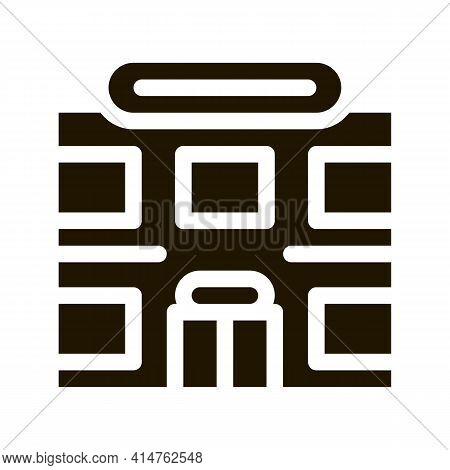 Supermarket Glyph Icon Vector. Supermarket Sign. Isolated Symbol Illustration