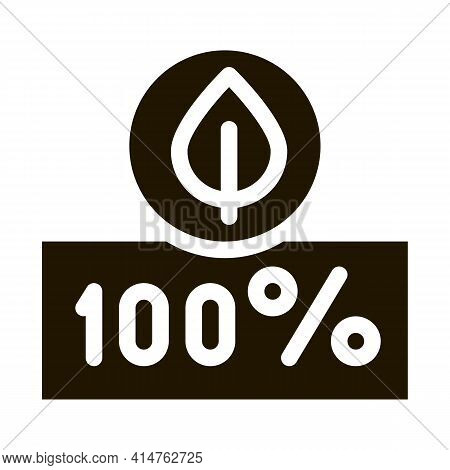 Hundred Percent Glyph Icon Vector. Hundred Percent Sign. Isolated Symbol Illustration