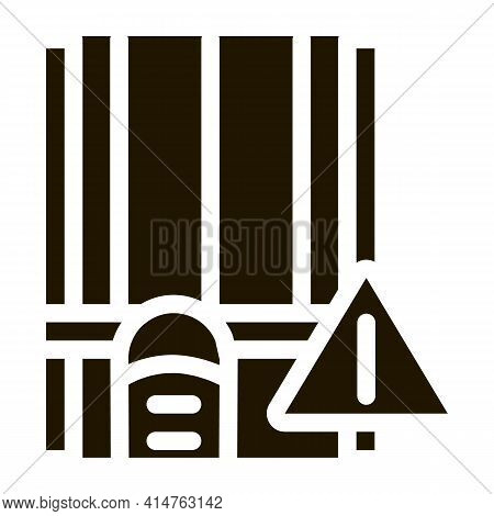 Busy Track Glyph Icon Vector. Busy Track Sign. Isolated Symbol Illustration