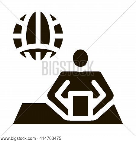 Worldwide News Glyph Icon Vector. Worldwide News Sign. Isolated Symbol Illustration