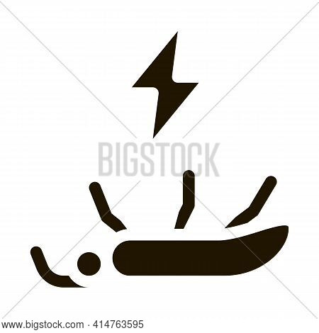 Dead Mosquito Glyph Icon Vector. Dead Mosquito Sign. Isolated Symbol Illustration