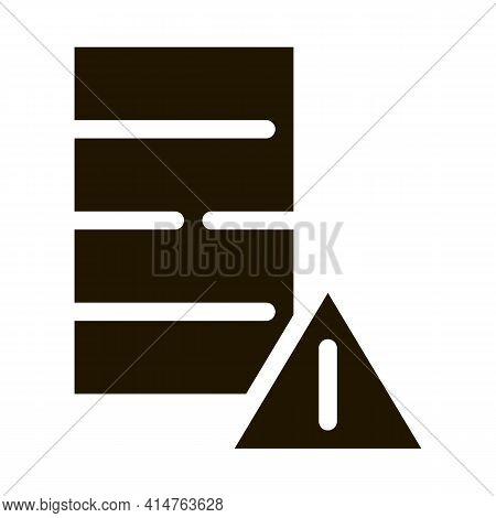 Pesticides Barrel Glyph Icon Vector. Pesticides Barrel Sign. Isolated Symbol Illustration