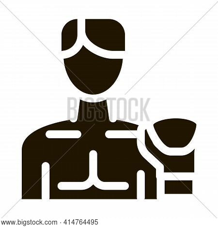 Boxer Man Glyph Icon Vector. Boxer Man Sign. Isolated Symbol Illustration