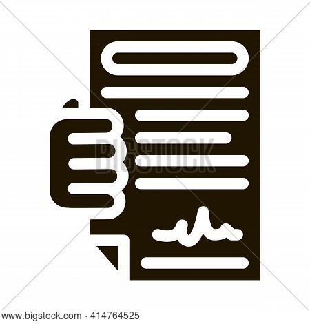 Courier Agreement Glyph Icon Vector. Courier Agreement Sign. Isolated Symbol Illustration