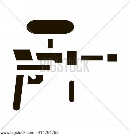 Paintball Gun Glyph Icon Vector. Paintball Gun Sign. Isolated Symbol Illustration