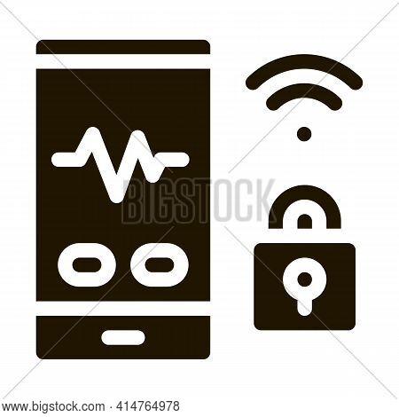 Wi-fi Defense Glyph Icon Vector. Wi-fi Defense Sign. Isolated Symbol Illustration