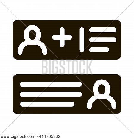 Correspondence Glyph Icon Vector. Correspondence Sign. Isolated Symbol Illustration